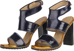 Sandały Lacoste w stylu klasycznym na wysokim obcasie ze skóry