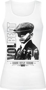 Top Volbeat z okrągłym dekoltem w młodzieżowym stylu z bawełny