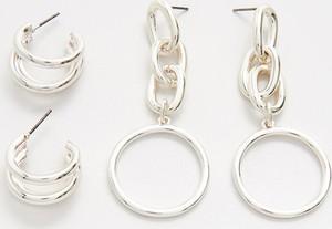 Cropp - 2 pack kolczyków - Srebrny