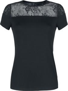Czarna bluzka Emp z krótkim rękawem