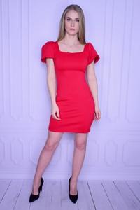 Sukienka Guess mini z okrągłym dekoltem