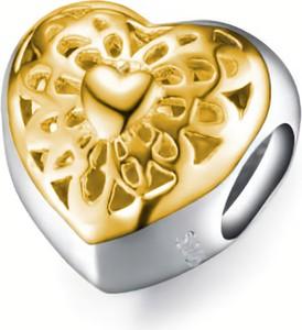 Valerio Rodowany pozłacany srebrny charms pandora serce serduszko heart ażurowy wzór srebro 925 SY029