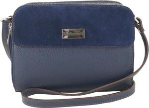 Niebieska torebka Barberini`s średnia na ramię matowa