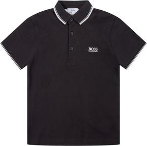 Czarna koszulka dziecięca Hugo Boss