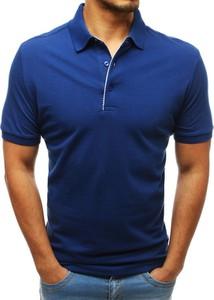 Niebieska koszulka polo Dstreet w stylu casual z krótkim rękawem
