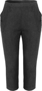 Spodnie modneduzerozmiary.pl z bawełny w street stylu
