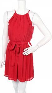Czerwona sukienka By & By mini bez rękawów