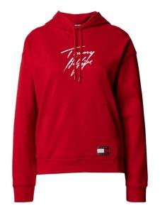 Czerwona bluza Tommy Hilfiger z bawełny w stylu casual
