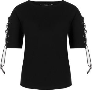 Czarny t-shirt Guess Jeans w stylu casual