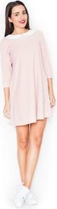 Sukienka LENITIF oversize mini z długim rękawem