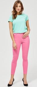 Różowe spodnie Moodo w stylu casual