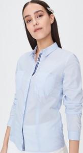 Niebieska koszula Sinsay z kołnierzykiem