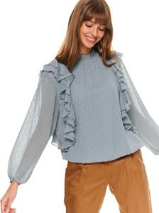 Bluzka Top Secret z okrągłym dekoltem z długim rękawem