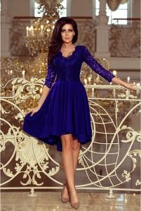 Sukienka NUMOCO asymetryczna midi z dekoltem w kształcie litery v