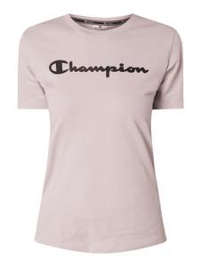 Fioletowa bluzka Champion z okrągłym dekoltem