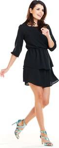 Sukienka Awama mini z okrągłym dekoltem