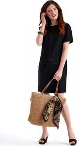 Czarna sukienka POTIS & VERSO w stylu casual z lnu