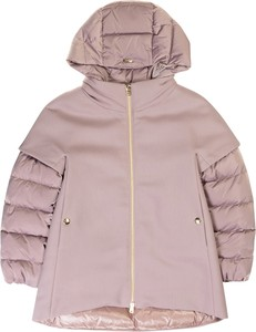Fioletowy płaszcz dziecięcy Herno
