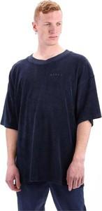 Niebieski t-shirt Edwin z krótkim rękawem