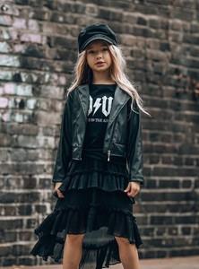 Czarna kurtka dziecięca All For Kids ze skóry