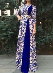 Sukienka Cikelly w stylu boho z długim rękawem z dekoltem w kształcie litery v