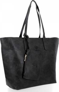 Czarna torebka Bee Bag lakierowana duża na ramię
