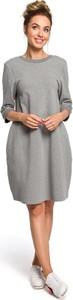 Sukienka Merg z długim rękawem w stylu casual