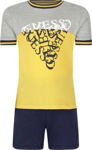 Żółty komplet dziecięcy Guess