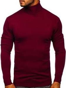 Czerwony sweter Denley w stylu casual