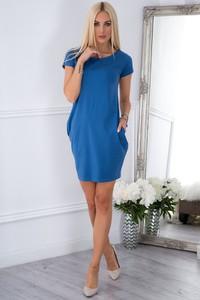 Sukienka Fasardi mini w stylu casual z okrągłym dekoltem