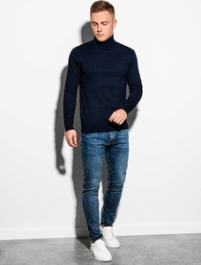 Granatowy sweter Ombre w stylu casual