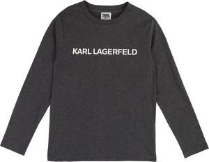 Czarna bluzka dziecięca Karl Lagerfeld z długim rękawem