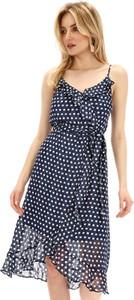 Niebieska sukienka Smashed Lemon z dekoltem w kształcie litery v