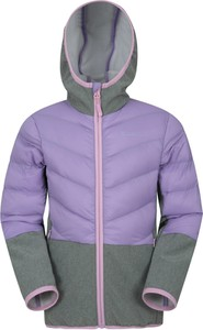 Fioletowa kurtka dziecięca Mountain Warehouse z tkaniny dla dziewczynek