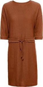 Pomarańczowa sukienka bonprix BODYFLIRT z krótkim rękawem