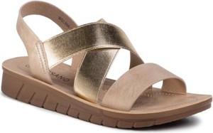 Złote sandały Bassano