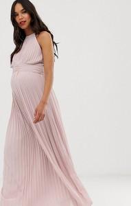 Różowa sukienka Tfnc Maternity
