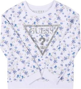 Bluza dziecięca Guess w kwiatki