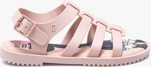 Różowe sandały Melissa w stylu casual z płaską podeszwą