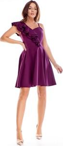 Fioletowa sukienka Keyla mini z dekoltem w kształcie litery v