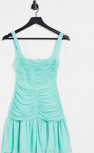 Sukienka Asos z okrągłym dekoltem w stylu casual na ramiączkach