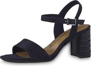 Sandały Tamaris w stylu klasycznym na obcasie na średnim obcasie