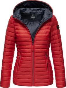 Czerwona kurtka Marikoo krótka w stylu casual