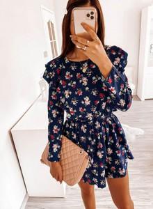 Sukienka Pakuten z długim rękawem z bawełny mini