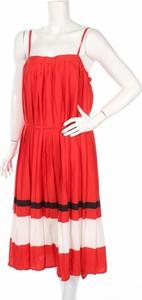 Sukienka Neon Rose midi na ramiączkach