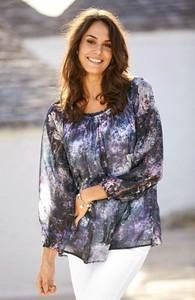 Bluzka Cellbes z tkaniny w stylu casual z długim rękawem
