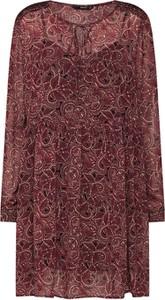 Czerwona sukienka Only z szyfonu w stylu casual oversize