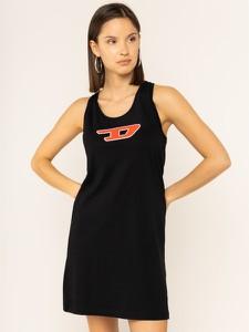 Sukienka Diesel z nadrukiem z okrągłym dekoltem mini