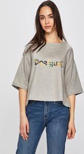Srebrny t-shirt Desigual Sport
