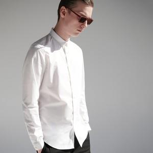Koszula Reserved z bawełny ze stójką z długim rękawem